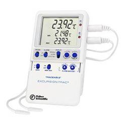 Цифров термометър Fisher Scientific Excursion-Trac с два цилиндрични сензора, -50 до 70 ° C
