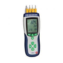 Термометър с K-тип Digi-Sense термодвойка, 4 канала, NIST проследим, -200 - 1372 ° C