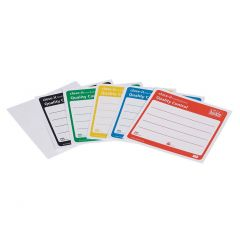 Етикети за запечатване на Burkle, 95 * 95 mm, жълто, 500 бр