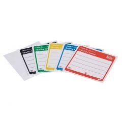 Етикети за запечатване на Burkle, 95 * 95 mm, червени, 500 бр