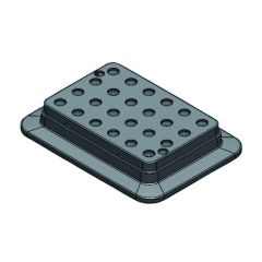 DLAB вложки за HC110-Pro блок нагревател, 24 места * 0,5 мл