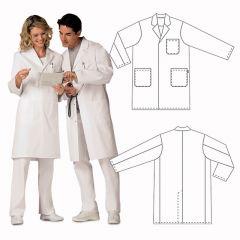 Бял халат унисекс ROTH, размер M, L 103 cm