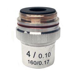 Ахроматичен обектив M-131 Optika за микроскопи, 4x