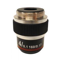 Обектив с висок контраст M-137 Optika за микроскопи, 4x